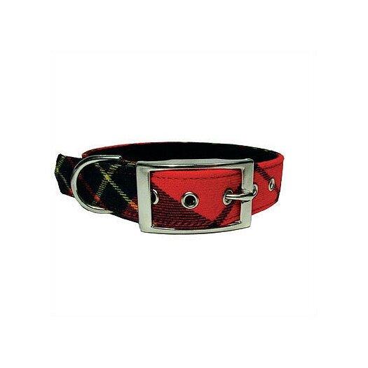 George SF Red Plaid Tiny Dog Collar