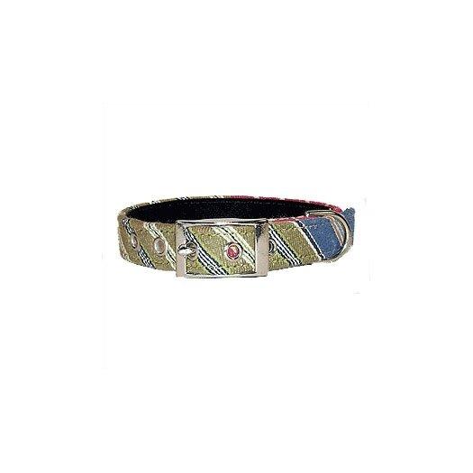 George SF Oxford Stripe Cotton Dog Collar