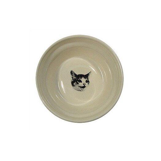George SF Ridged Happy Cat Bowl