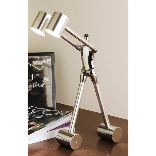"Man2Max Be Open To Learn 18.1"" H Table Lamp with Drum Shade"