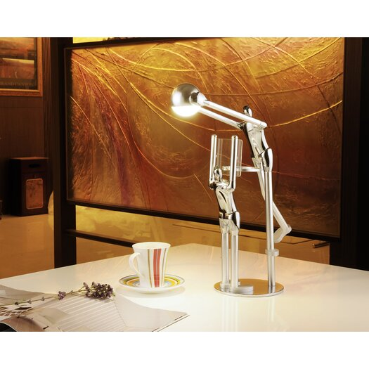 "Man2Max Character Artistic LED 12.8"" H Table Lamp with Bowl Shade"