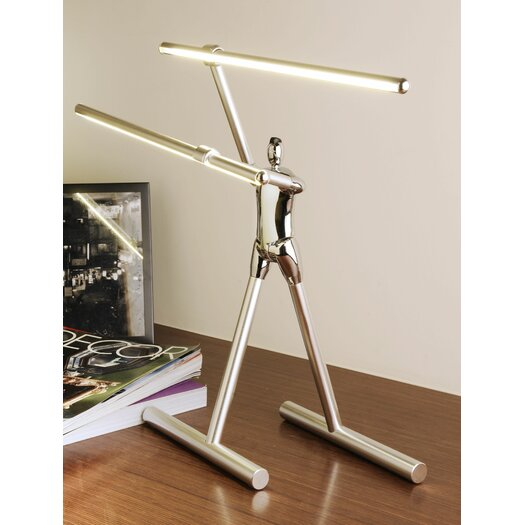 "Man2Max Commitment Artistic LED 15"" H Table Lamp"