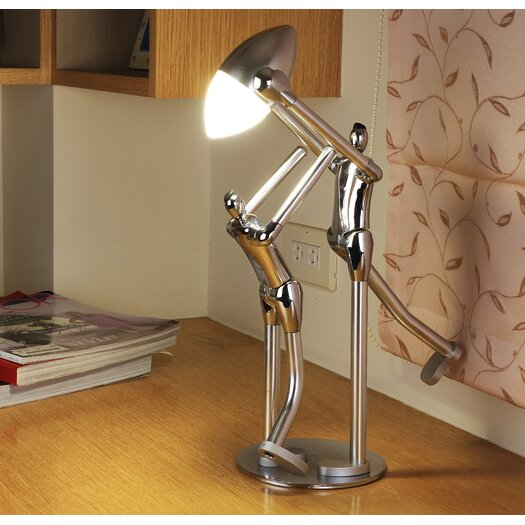 """Man2Max Sportsmanship Artistic LED 11.8"""" H Table Lamp with Bowl Shade"""