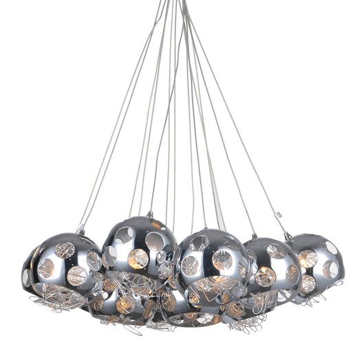 Bromi Design Riley 13 Light Crystal Chandelier