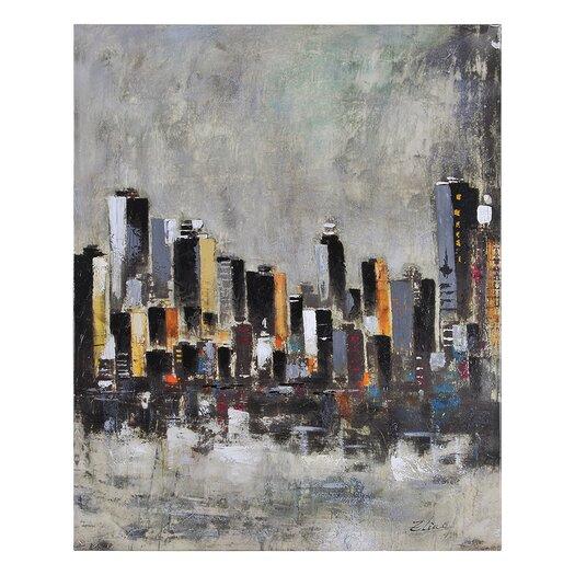 Ren-Wil Metro Heights by Elias Munoz Painting Print on Canvas