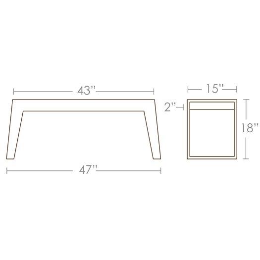Brave Space Design Hollow Kitchen Bench