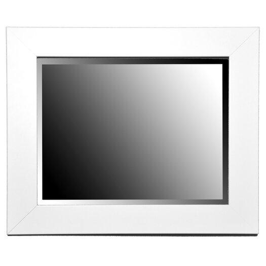Rayne Mirrors Jovie Jane White Satin Wide Wall Mirror