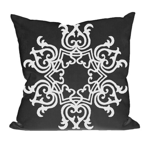E By Design Floral Motif Decorative Throw Pillow