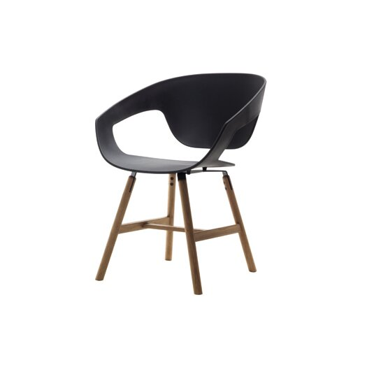 Vad Side Chair with Wooden Legs