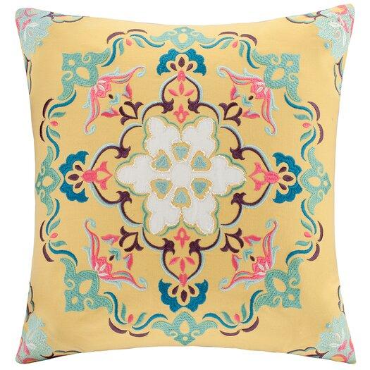 Intelligent Design Medallion Embroidered Throw Pillow