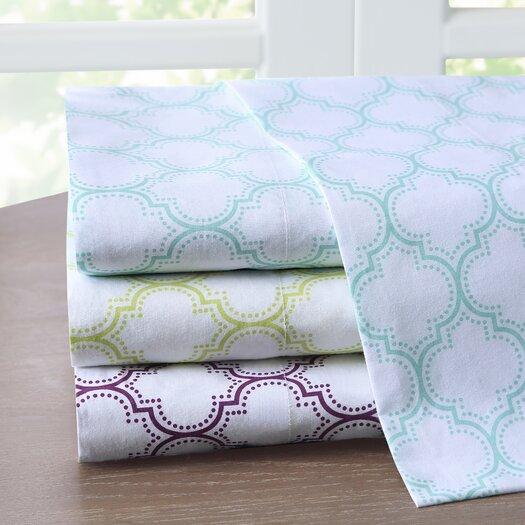 Intelligent Design Ogee 200 Thread Count Cotton Sheet Set