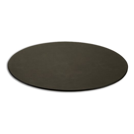 Dacasso 1000 Series Classic Leather 17 x 14 Oval Conference Pad in Black