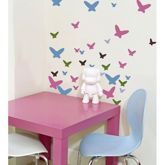 WallCandy Arts Flutterflies2 Wall Stickers 84 Piece Set