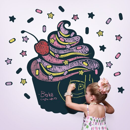 WallCandy Arts Chalkboards Cupcake 51 Piece Set
