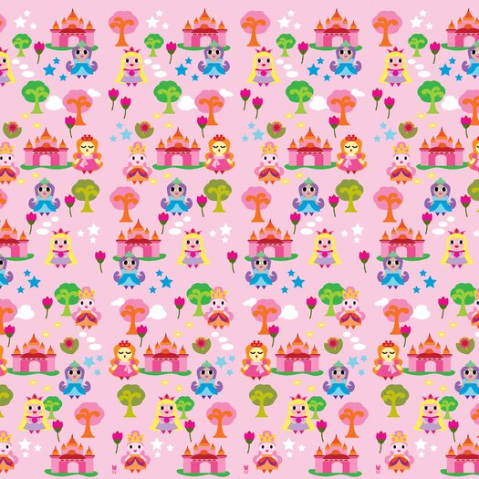 WallCandy Arts French Bull Princess Wallpaper