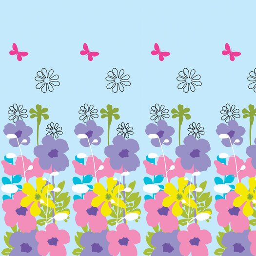 WallCandy Arts Nature Happy Flowers Wall Decal
