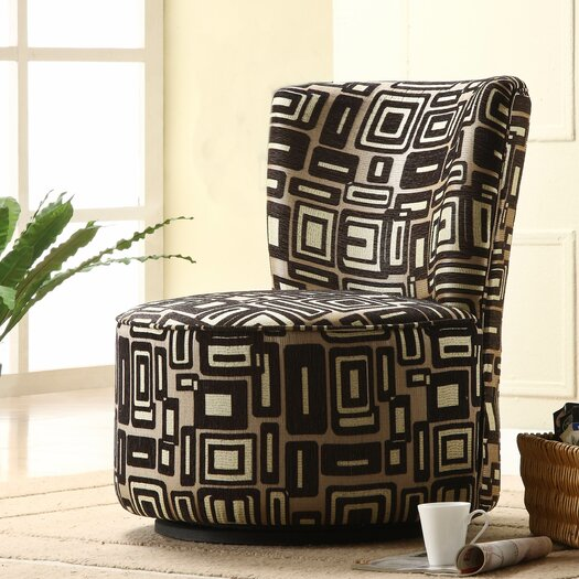 Woodbridge Home Designs Brown Geometric Easton Chair