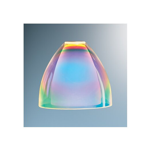"Bruck Lighting 3.4"" Rainbow Glass Bell Track Head Shade"