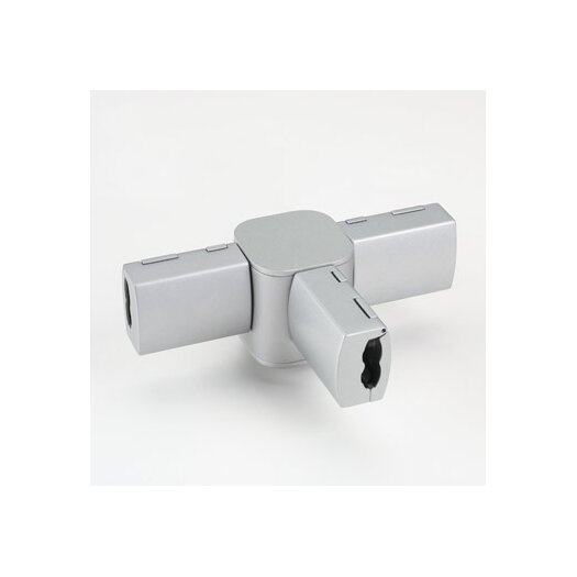 Bruck Lighting Zonyx T Connector in Matte Chrome