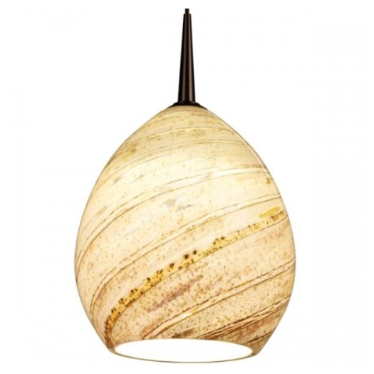 Bruck Lighting Vibe LED Pendant with Sea Shell Glass