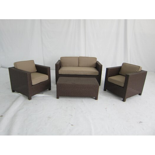 Creative Living Salinas 4 Piece Deep Seating Group with Cushions