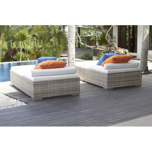 Dann Foley Brentwood Chaise Lounge with Cushion