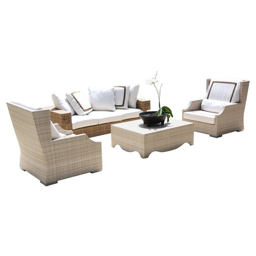 Dann Foley Hancock 4 Piece Deep Seating Group with Cushions