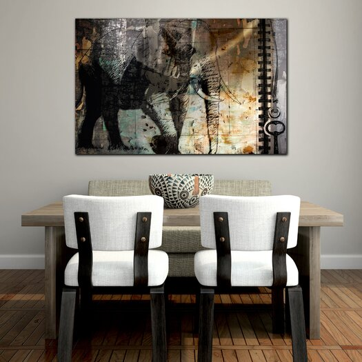 "Th-Ink Art ""Elle Wall"" Graphic Art on Canvas"