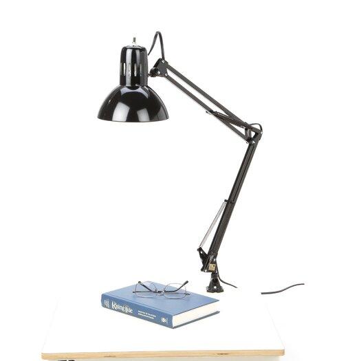 "Illuminada Swing Arm 28.7"" H Table Lamp with Bowl Shade"