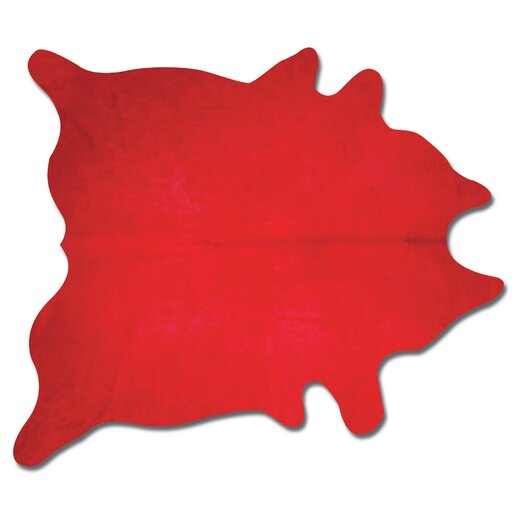 Natural Rugs Geneva Firecracker  Red Solid Area Rug
