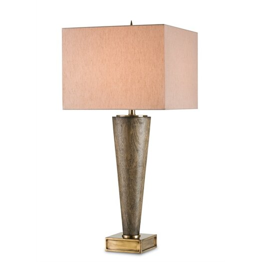 "Currey & Company Kerry 35"" H Table Lamp with Rectangular Shade"