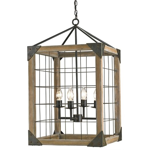 Currey & Company Eufaula 4 Light Lantern