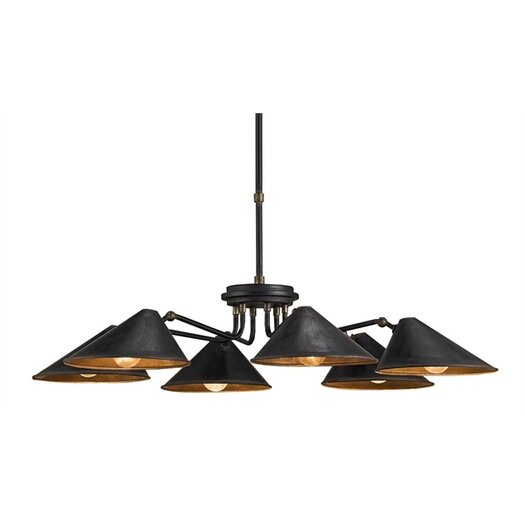 Currey & Company Fainlight 6 Light Chandelier