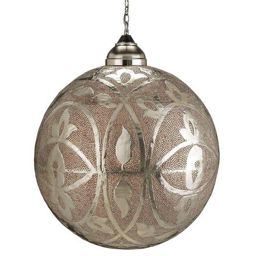 Currey & Company Sahara 1 Light Globe Pendant
