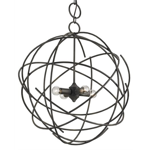 Currey & Company Belfry 4 Light Mini Chandelier
