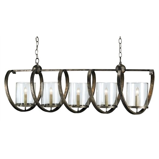 Currey & Company Maximus 5 Light Chandelier