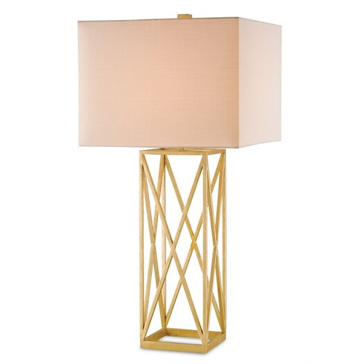"Currey & Company Clemente 34"" H Table Lamp with Rectangular Shade"