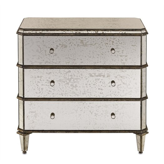 Currey & Company 3 Drawer Chest