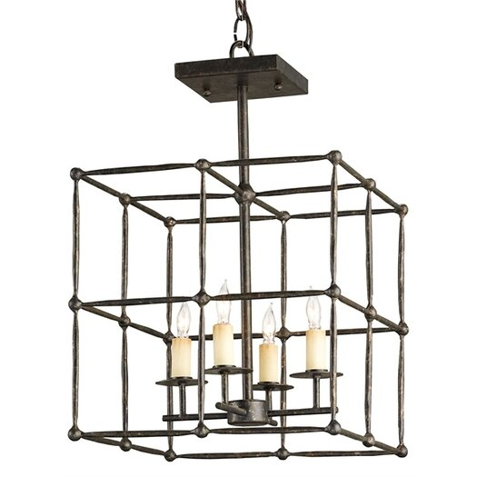 Currey & Company Fitzjames 4 Light Foyer Pendant