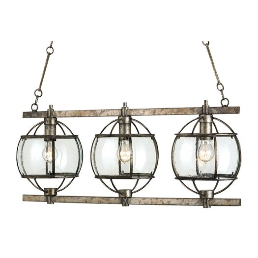 Currey & Company Broxton 3 Light Chandelier