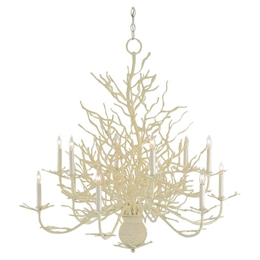 Currey & Company Seaward 12 Light Candle Chandelier