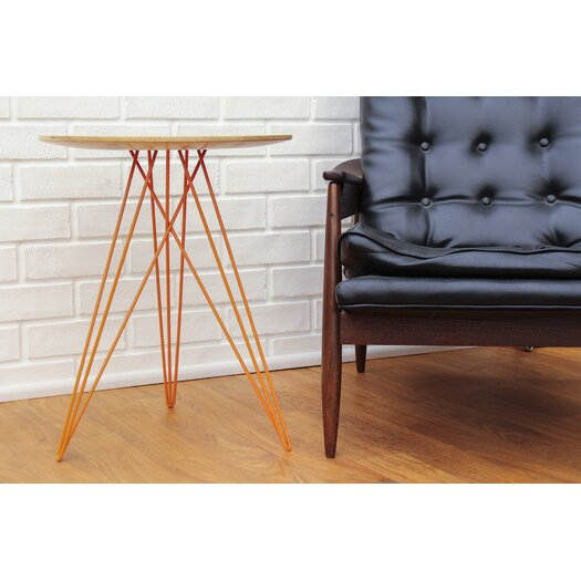 Tronk Design Hudson End Table with Inlay