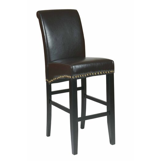 "OSP Designs Metro 30"" Bar Stool with Cushion"