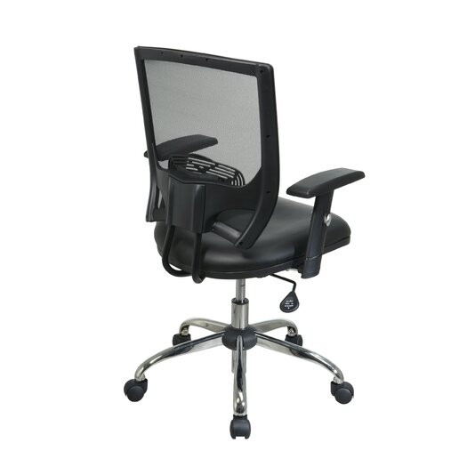 OSP Designs Screen Back Chair with Adjustable Arms and Headrest
