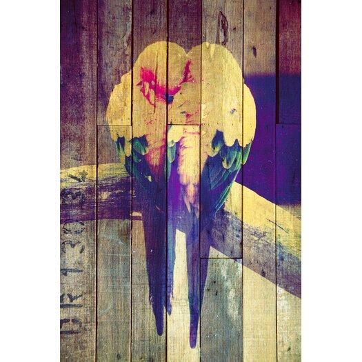 "Salty & Sweet ""Lovebirds Pastel"" Graphic Art on Canvas"