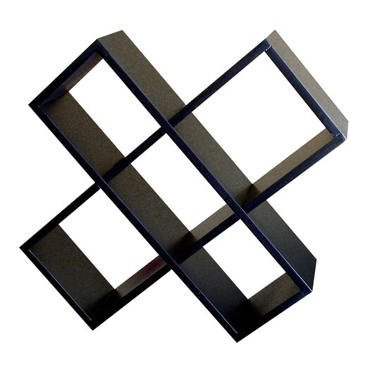 ORE Furniture Crisscross Wall Mouted Multimedia Storage Rack