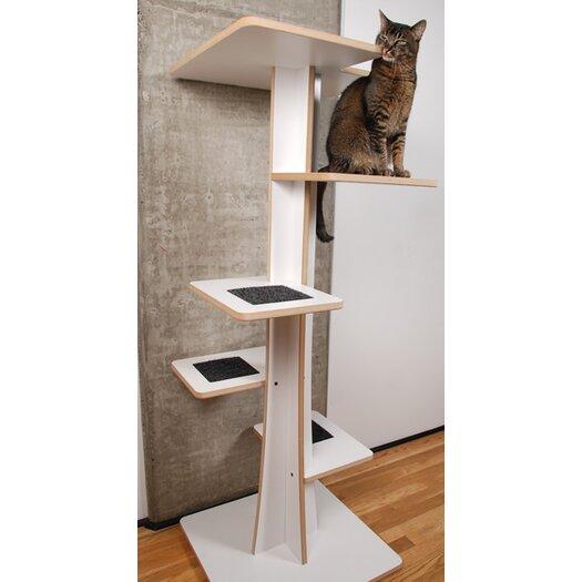 """Square Cat Habitat 60"""" Baobab Cat Tree"""