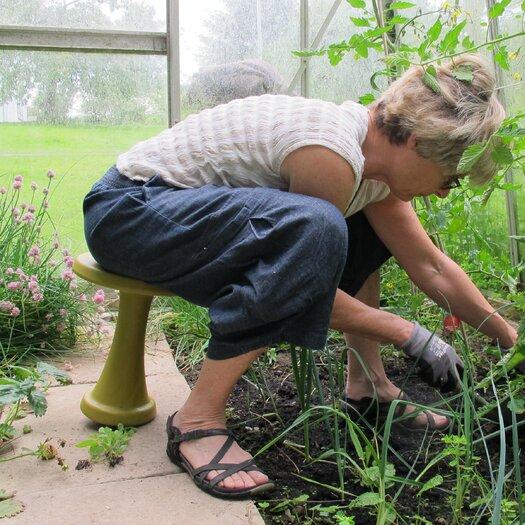 One Leg Rocking Garden Stool