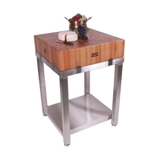 John Boos Cucina Americana LaForza Kitchen Island Wood Top