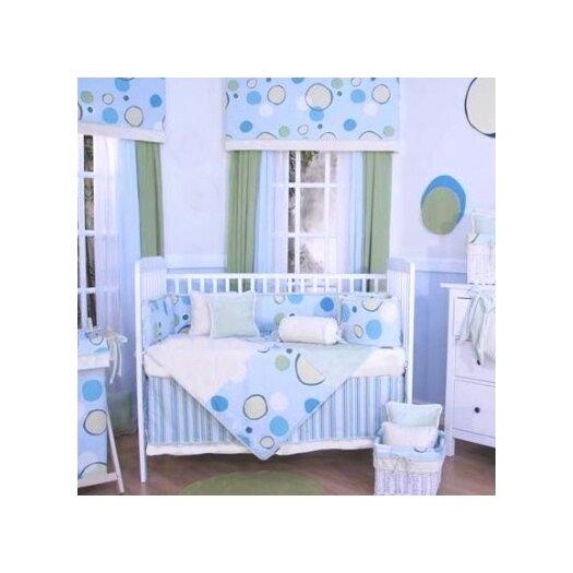 Brandee Danielle Minky Bubbles 4 Piece Crib Bedding Set